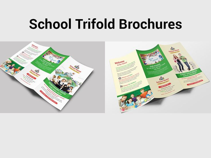 21 best School Brochure Template PSD images on Pinterest School - microsoft word tri fold brochure template
