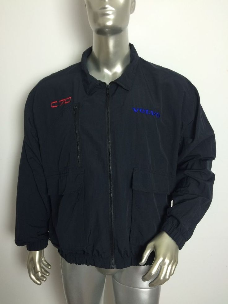 Volvo C70 Racing Jacket by The Saint by Star Bus Leather Screen Men's Large Vtg | eBay