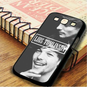 Louis Tomlinson Smiley Singer One Direction Samsung Galaxy S3 Case