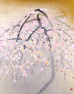 """""""Pale Plum Tree"""" by OKUMURA Togyu (1889-1990), Japan"""