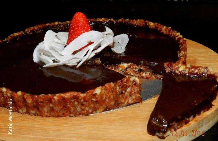 Torta vegana de chocolate  #umbanquinhoeumfogao