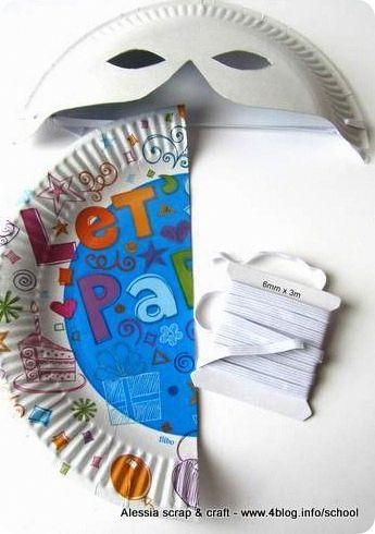 100 Lavoretti di Carnevale | Maschere con piatti di carta | FOTO