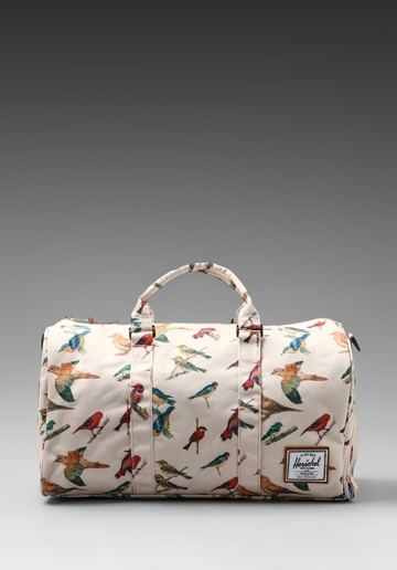 HERSCHEL SUPPLY CO. Bad Hills Workshop Novel Duffle in Watercolored Bird Print at Revolve Clothing - Free Shipping!