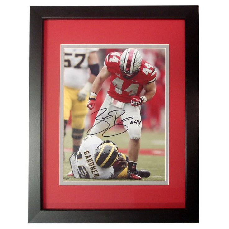 Autographed Zach Boren 8-by-10 inch framed Photo.