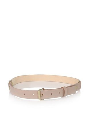 Nina Ricci Women's Plain Leather Buckle Belt