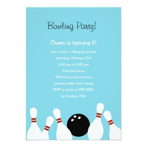 Best Bowling Birthday Invitations Images On