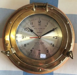 Bell Clock Co Ships Clock Brass Porthole Frame With