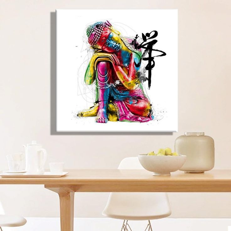 Colorful Buddha, so wonderful!!  - Canvas