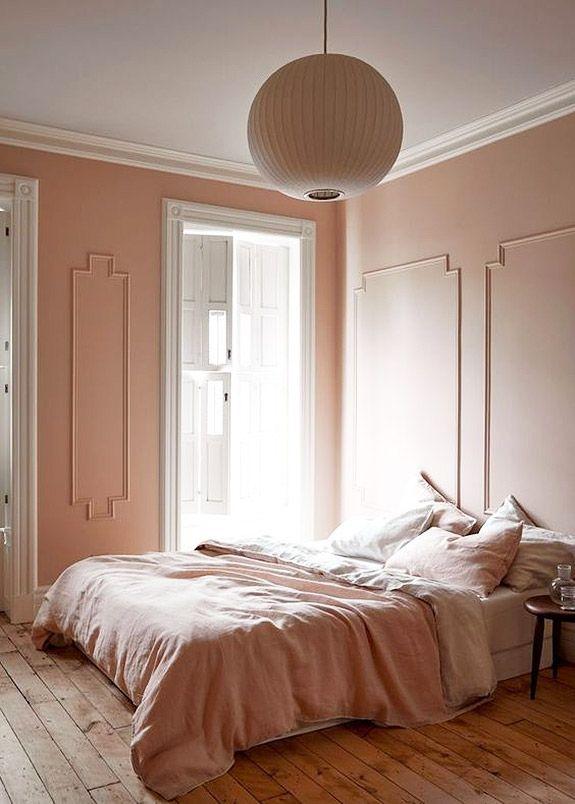pink walls and bedding. / sfgirlbybay