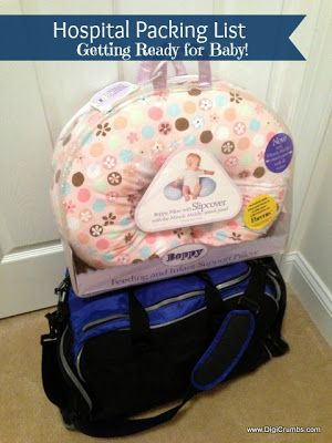 """My Hospital Packing List - Getting Ready for Baby ----- """"I try to keep packing for the maternity ward simple. Who wants to lug everything but the kitchen sink around the hospital? Plus packing light makes it easier to find what you need quickly. """""""