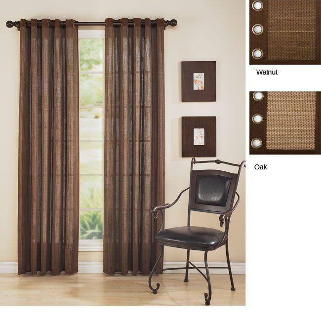 <li>Grommet top panel made of eco-friendly bamboo</li> <li>Window treatment fits hardware up to 1.125 inch in diameter</li> <li>Grommet available in oak and walnut color options</li>
