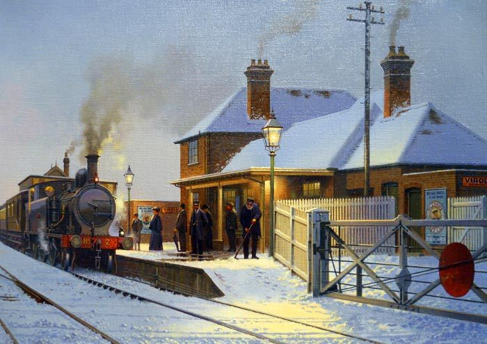 17 best images about train paintings on pinterest