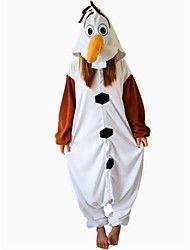 Kigurumi+Pijamas+Muñeco+de+Nieve+Leotardo/Pijama+Mono+Festival/Celebración+Ropa+de+Noche+de+los+Animales+Halloween+Blanco+RetazosLana+–+USD+$+20.69