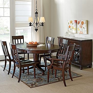 Dining set linden street cherry pointe jcpenney for Dining room jcpenney