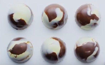 Dômes chocolat blanc guimauve tupperware