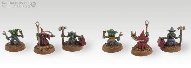 Big Mek Gogstompa Grot Gretchin Goblin Gobo Oiler Mechanic Ork Blood Axe Clan Warhammer 40K
