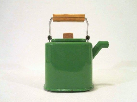 vintage enameled tea pot.
