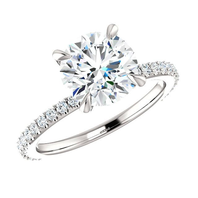 173 best images about Moissanite Engagement Rings on Pinterest