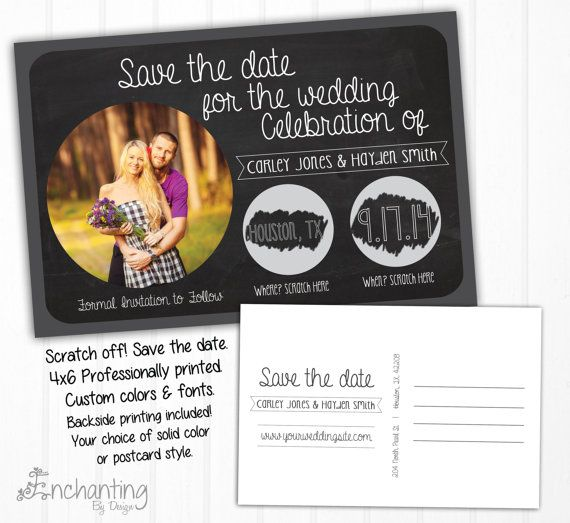 Scratch Off Save The Dates-----------------------    Looking for a fun way to announce your engagement? Scratch