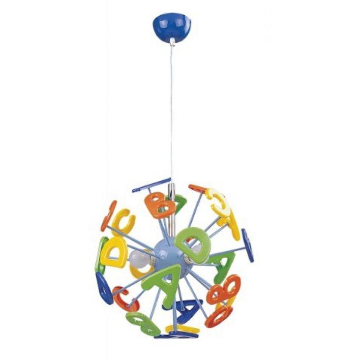 Luxury bunte Kinderzimmer Pendelleuchte ABC kinderleuchten kinderzimmerleuchten bunt pendelleuchte pedantlamp licht