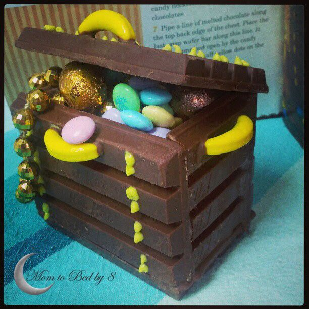 Candy Treasure Chest Recipe... Cute for decoration on tables for birthday party