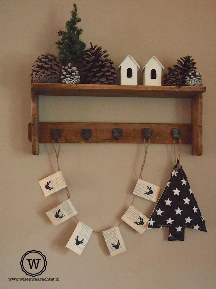 Kerstdecoratie #rendier #slinger #kerst
