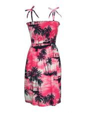Island Sunset Tube-Top Dress