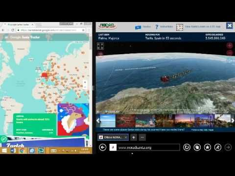 (time 6.30.30 IN)NORAD Santa Tracker 2016 and Google Santa Tracker 2016 - Part 2 - Christ...