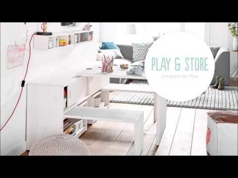 Play & Store Kidsrooms by Lifetime  Kinderkamer met leuke meubelen ook voor in de huiskamer een functionele kast met bankjes www.theobot.nl slaapkamer zaak ook voor kinderbedden