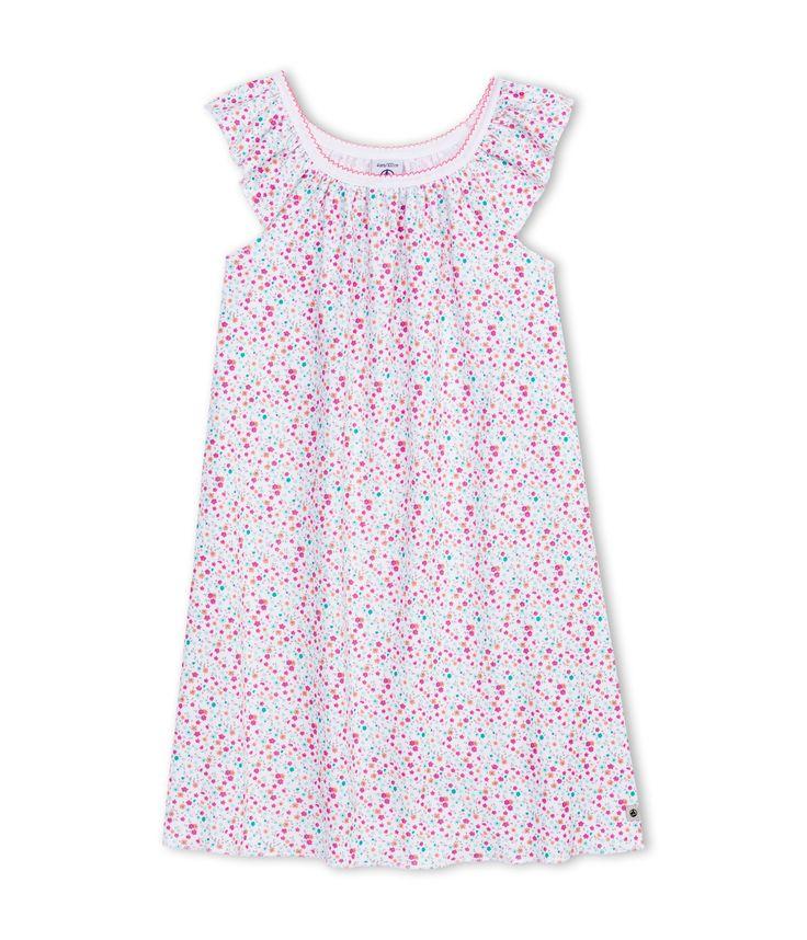 Chemise de nuit fille à imprimé fleuri Rose - Petit Bateau