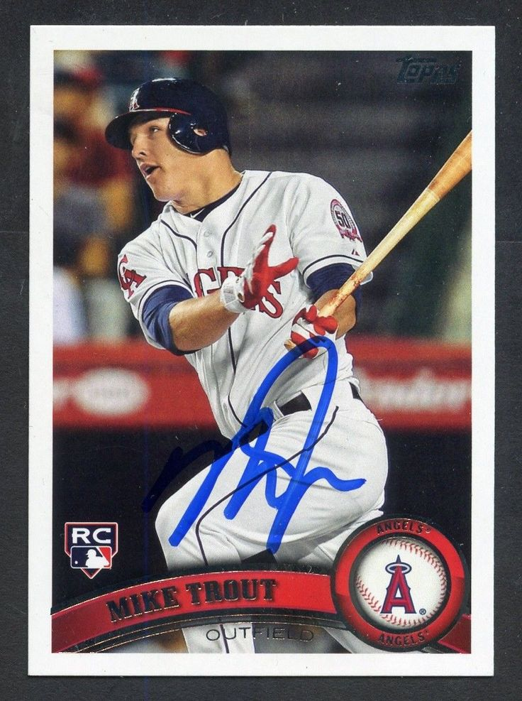 Mike Trout Signed 2011 Topps US175 RC Rookie Autographed
