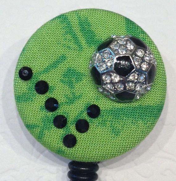 Professional badge holder - badge reel - soccer mom - pharmacy tech  jewelry - glitzy name badge