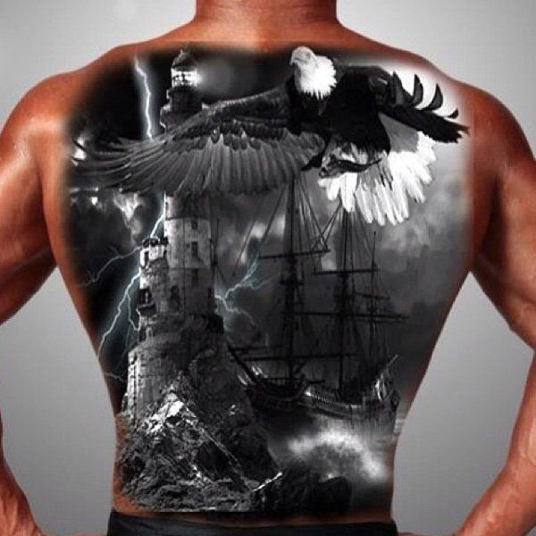 17 Best Ideas About Full Back Tattoos On Pinterest
