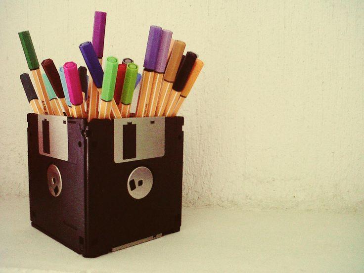 Floppy disk box by Súa Agapé: Floppy Disks, Diy Ideas, Creative Boxes, Ideas Worth, Diy Craft Ideas, Eco Deco Ideas