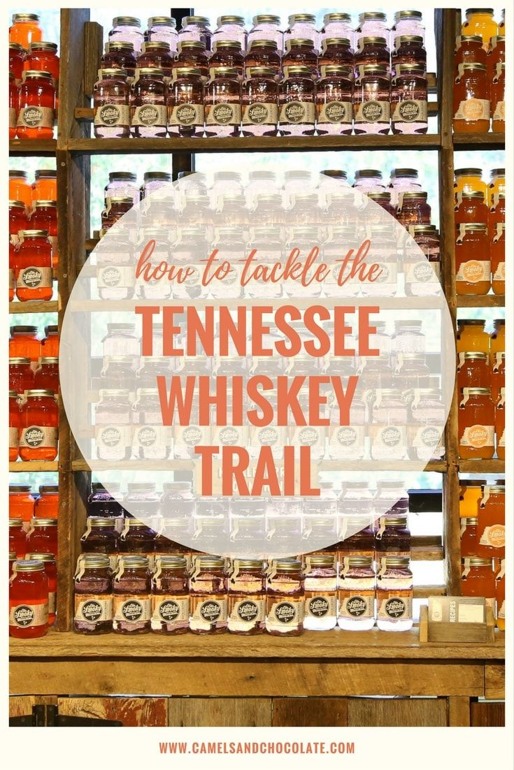 Travel the Tennessee Whiskey Trail. After a legislature change in 2009 that finally allowed small batch distilleries in Tennessee to open, Tennessee went from three distilleries to more than 30 in a handful of years. The Tennessee Whiskey Trail rolled out this past summer and is already seeing explosive growth and interest among whiskey connoisseurs, tourists and the media. Click through to find out how to tackle the Tennessee Whiskey Trail. | Camels and Chocolate #whiskeytrail #tennessee