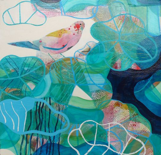 becky blair * artist - paintings: lilly pond
