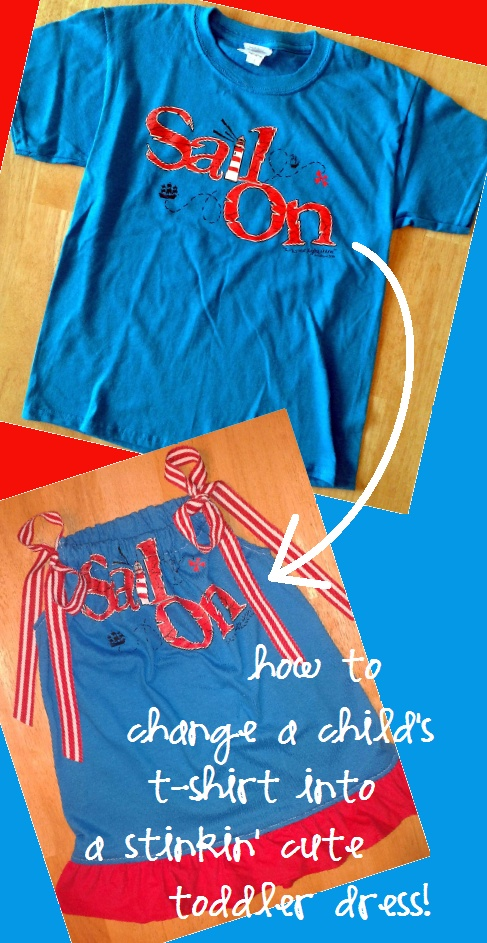 DIY tutorial: transform child's t-shirt into toddler dress ...