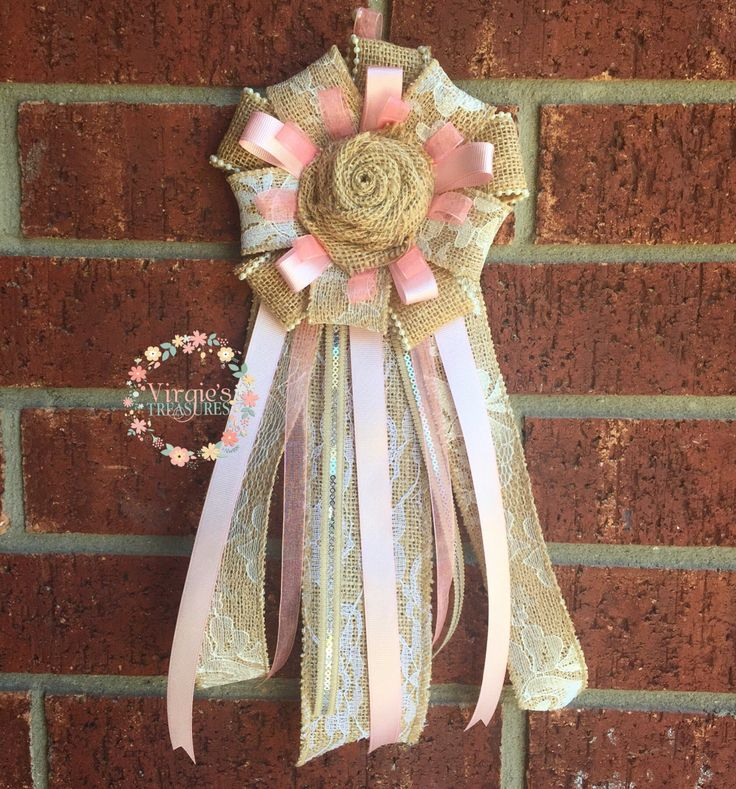 Bridal Shower Corsage, Grandmother To Be Corsage, Mom To Be Corsage, Bridal Shower Mum, Modern Corsage, Burlap Corsage, Baby Shower Corsage by VirgiesTreasures on Etsy