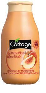 Cottage, Douche lait Pêche, Douche lait Hydratante aux extraits de Pêche, Produit pour le corps, Produit pour le bain