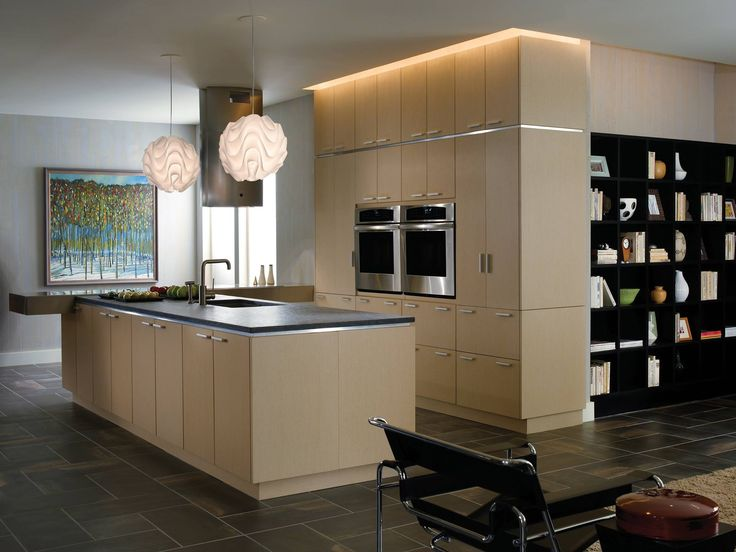 to the concept of clean european styling this kitchen focuses on the overall look of the space and the materials