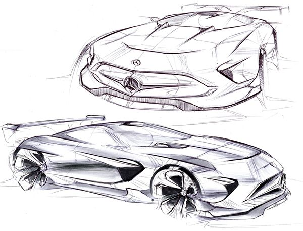 Herman Delos Santos concept car sketch