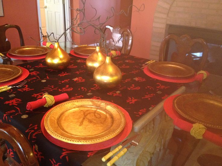 Chinese New Year 2014 table setting