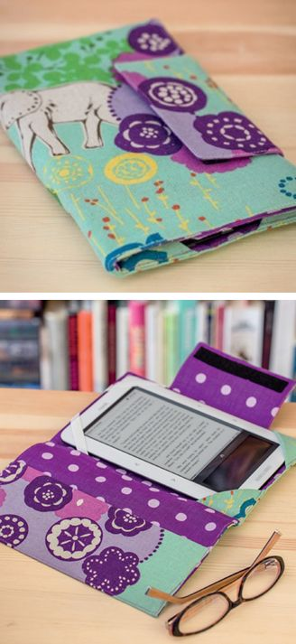 The perfect gift to sew for your book-club buddy--a custom e-reader cover. From the book Sew Practical: 13 Fun-to-Sew Designs for You and Your Home.