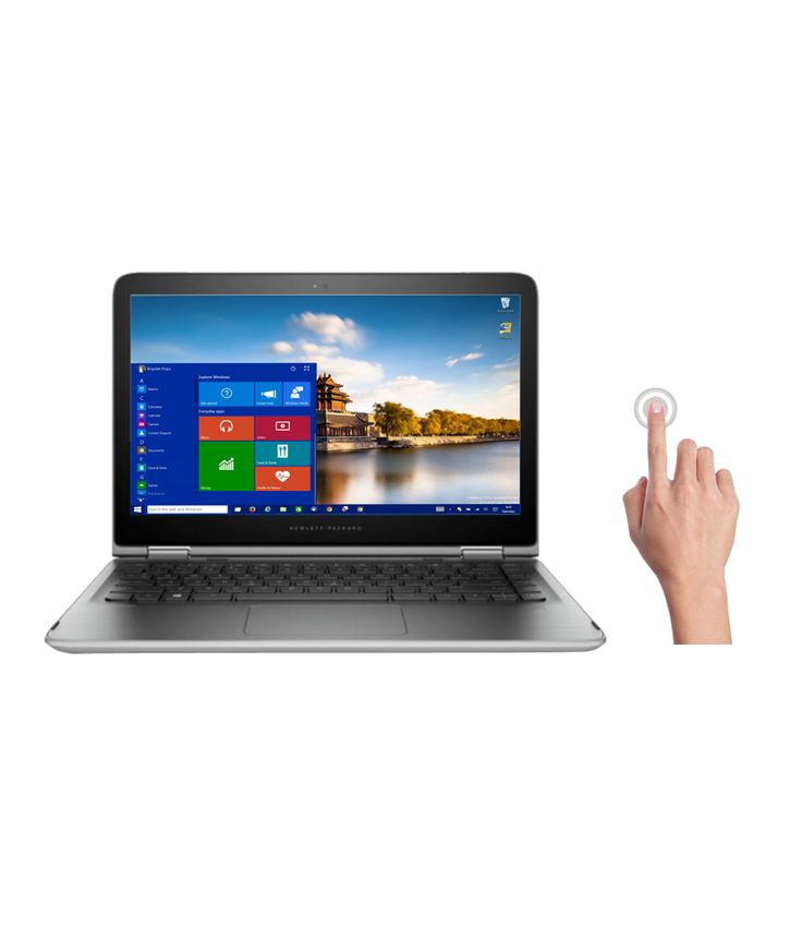 HP Pavilion 13-s102Tu 2-in-1 Laptop (T0Y59PA) (6th Gen Intel Core i3- 4GB RAM- 1TB HDD- 33.78 cm (13.3)- Touch- Windows 10) (Natural Silver)