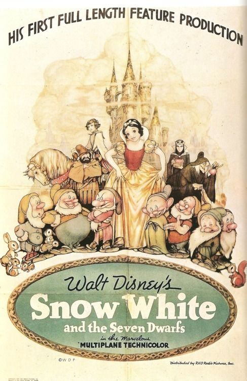 vintage snow white movie poster