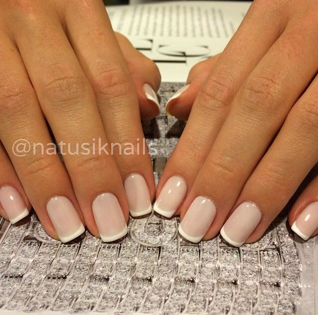 Perfect short French manicure
