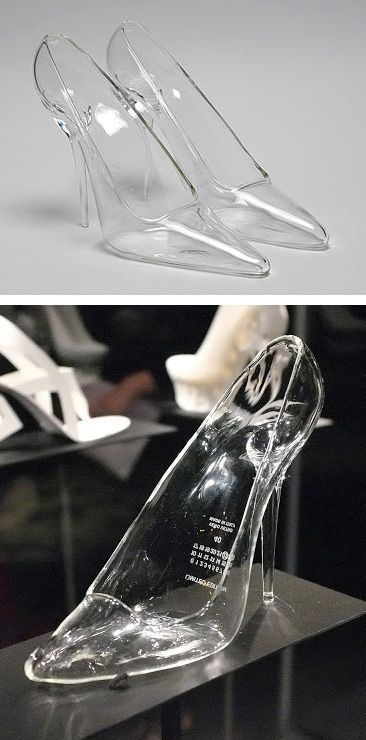 Cinderella Bridal Glass Slippers from Maison Martin Margiela
