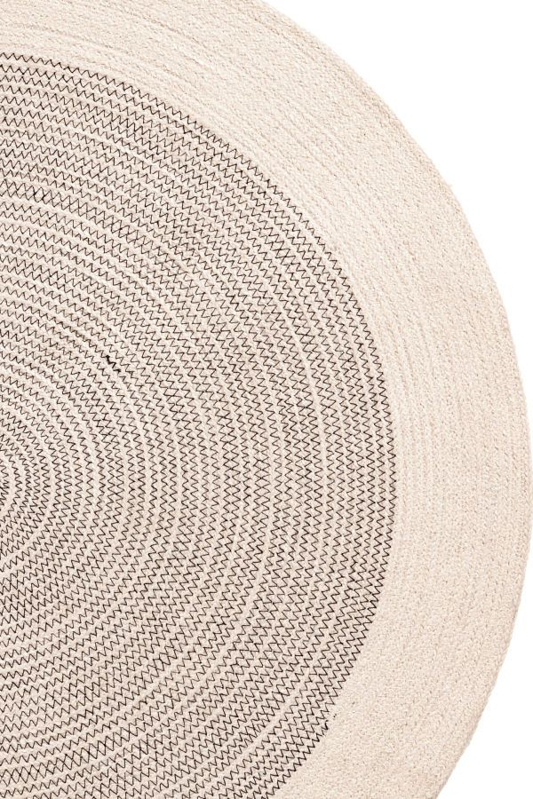 Check This Out Round Bath Mat In Jute With Contrasting Seams Non