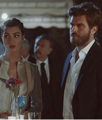 Tuba Buyukustun and Kivanc Tatlitug in Cesur ve Guzel, the Turkish TV series, 2016-2017