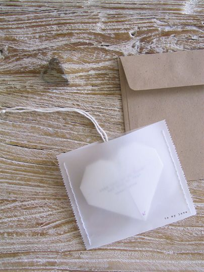 DIY Origami Heart Love Note » Eat Drink Chic